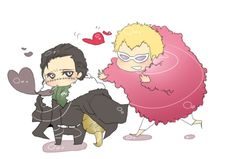 Donquixote Doflamingo and Sir Crocodile