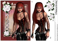 Rock Chick Decoupage - This Modern gal is just the thing for those that like to walk on the wild side of life!
