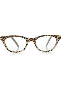Cutler and Gross|D-frame leopard-print acetate optical glasses |NET-A-PORTER.COM