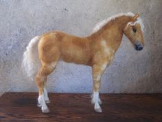Have one made of your own pet! How cool is this.   Custom needle felted horse made just for you by by Ainigmati, $195.00