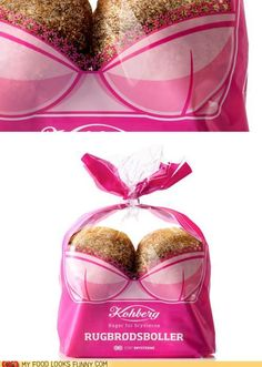 These were designed by Envision for Kohberg, a bread manufacturer in Denmark. Kohberg is the sponsor of The Danish Cancer Society's annual event to raise money and awareness for breast cancer.