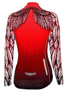 Free Flight Womens Long Sleeve Jersey (Red)