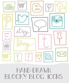 Social Media Icons by AngieMakes on Etsy, $6.00