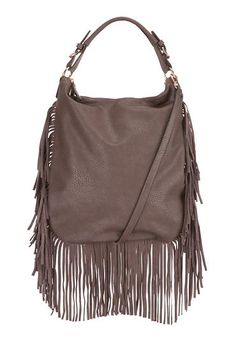 hobo bag with genuine leather fringe (original price, $59) available at #Maurices