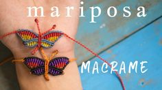 How to make macrame butterfly, bracelet. How to make macrame butterfly buy thread waxed . Macrame Bracelet Patterns, Macrame Necklace, Macrame Patterns, Macrame Jewelry, Macrame Bracelets, Friendship Bracelet Patterns, Micro Macramé, Butterfly Bracelet, Bracelet Crafts