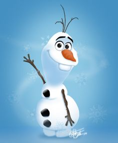 A drawing of Olaf the Snowman on Deviantart Disney Olaf, Disney Frozen, Water Cycle, Simple Art, Scooters, Snowman, Christmas Crafts, Disney Characters, Fictional Characters