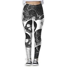 994e81f3ca7c Futong Huaxia Skull 17 (2) Women s Stretchy Leggings Skinny Pants For Yoga  Running Pilates