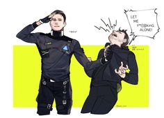 Detroit become human RK900 and Gavin Reed By: @yan_snn