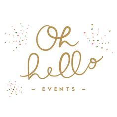 Oh Hello Events Logo #branding #tampa #florida #weddingplanner