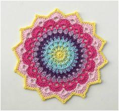 "Colorful Mandala ""Magnolia"" – Free Pattern – Craft Addicts"