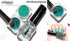 100% Mineral Farbpigmente von Bellapierre. Mehrzweck Farbpigmente. Als Lidschatten, Lippenfarbe, Nagellack.  www.armonia-cosmetics.de