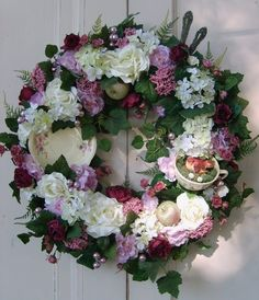 Cottage Chic Teacup Wreath