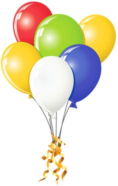 """Use these balloons on the ends of the title """"Fun & Games"""" Happy Birthday Clip Art, Birthday Clips, Birthday Posts, Art Birthday, Birthday Balloons, Birthday Quotes, Birthday Greetings, Birthday Wishes, Transparent Balloons"""