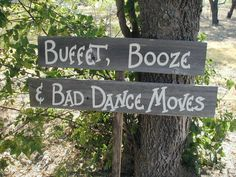 Fun Wedding Reception Double Wood Board Sign on by craftmarttexas, $36.00