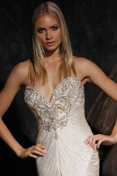 Victor Harper Couture wedding gown style VHC312 #fringe #bling #sweetheart