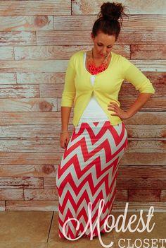 Olivia Chevron Printed Maxi Skirt! | Jane