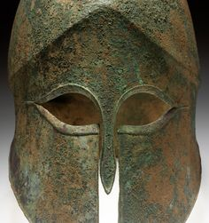 The Ancient Way of Life — ~Helmet. Culture: Corinthian Date: 500 B. Corinthian Helmet, Helmet Armor, Ancient Armor, Iron Age, Ancient Romans, Ancient Greece, Celtic, Cool Art, Museum