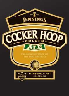 JENNINGS COCKER HOOP - an award-winning light golden bitter from an all malt brew, with Styrian Golding hops added at various stages, to give a distinctive hop flavour and aroma. A beer of great character, appealing to those drinkers who really appreciate their beer and are looking for quality.
