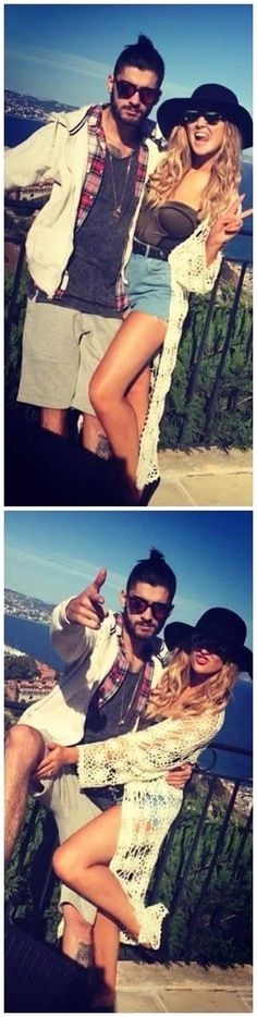 Zayn & Perrie on a vacation with Zayn's family