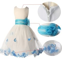 Sleeveless Crew Neck Satin Wedding Party Flower Girl Dress Cute skirt wear everyday Suit for 7~12 years old