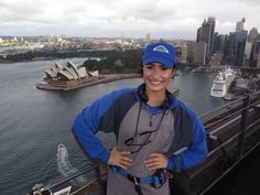 Demi Lovato at the top of the Sydney harbour bridge, Sydney, Australia