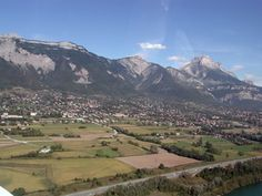 Used to live right there below those mountains My favourite home.  Saint Ismier, Grenoble in France.
