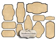 digital collage sheet blank apothecary labels antique shabby grunge vintage labels printable for jars bottles scrapbook ephemera