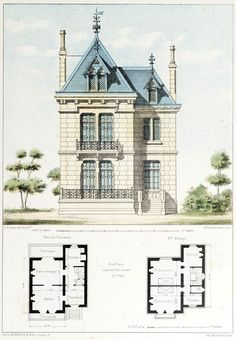 Archi maps this design is influenced by the baroque era although the colour scheme may not be completely corre Architecture Mapping, Architecture Drawings, Architecture Plan, Sims House Plans, Small House Plans, House Floor Plans, Victorian House Plans, Vintage House Plans, Lotes The Sims 4