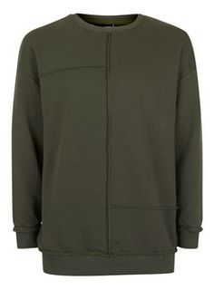 ANTIOCH Green Exposed Seam Sweatshirt*