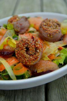 Salade aiguillettes, Sésame et pamplemousse