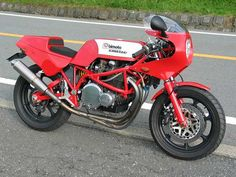 Bimota KB1. Bimota's model classification system, to this day, relies upon the manufaturer of the engine (in this case Kawasaki therefore 'K') followed by 'B' for Bimota followed by the number of engine/chassis models produced. (The SB6 in the earlier pin  for instance is 'S'uzuki + the 6th Suzuki engined model they have produced)