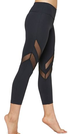 Crop Pants Women's Mesh Workout Wear by KOS USA at SanDiegoFit.com Gym Attire