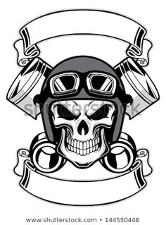 Skull Wearing Retro Motorbike Helmet Tattoo Design in Real Photo, Pictures, Images and Sketches – Tattoo Collections Tatto Skull, Helmet Tattoo, Skull Art, Skull Helmet, Logo D'art, Art Logo, Retro, Biker Tattoos, Harley Davidson Logo