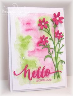FS377 Hello Gorgeous by bfinlay - Cards and Paper Crafts at Splitcoaststampers
