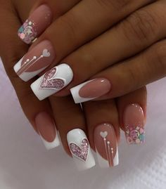 Diy Nails Manicure, Glitter French Manicure, Shellac Nails, Matte Nails, French Nails, Clear Nail Designs, Acrylic Nail Designs, Nail Art Designs, Elegant Nails