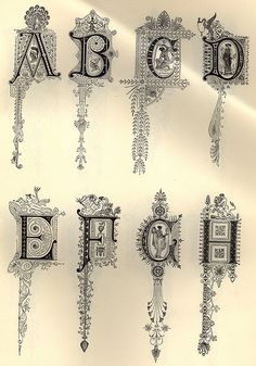 Decorative Alphabet by onetwentyeight, via Flickr