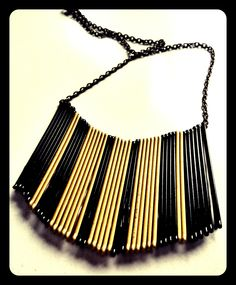 diy necklace from hairgrips