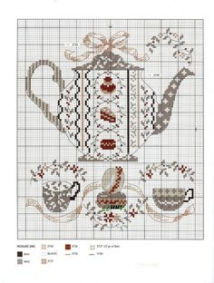 teapot cross stitch cart