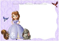 FREE Sofia the First Invitations–Start your royal party with beautiful free printable custom invitations. Find Sofia the First invitation backgrounds, printable invitations, ticket invitations & more.