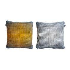 Two Side Gradient // Yellow-Grey Cushion Cover by Simon Key Bertman, $79 !!