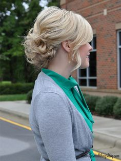 Pretty & Simple Updo Tutorial