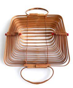 Mid-Century Japanese Folding Bamboo Bag/Occupied Japan image 3