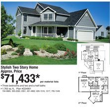 6a3c532a1694d8875983a579bd6c3d13--two-story-homes-flyers Menards Stovall House Plan on