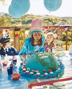 Kid's birthday party theme idea - Around the world