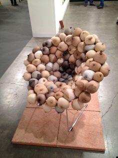 """Sarah Lucas' """"Tit Chair"""" at Art Basel Miami Beach"""