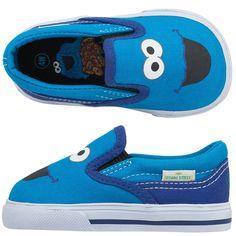 Baby Boys Sesame StreetKids' Infant Cookie Monster Slip-On