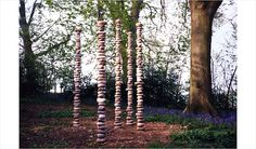 Chris Booth,  Silent Columns, 1991-1992, Trieste, Italy and England