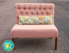 DIY:  Shabby Diamond-Tufted Bench - tutorial on building the bench + tutorial on how to upholster it. This is an awesome tutorial with tons of pics that show every step!