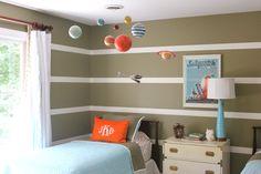 shared boys room. Marya Karlton. Serena & Lily cabin quilts