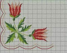 Punto de Cruz Bargello Patterns, Needlepoint Patterns, Cross Stitching, Cross Stitch Embroidery, Hand Embroidery, Cross Stitch Rose, Cross Stitch Flowers, Cross Stitch Designs, Cross Stitch Patterns